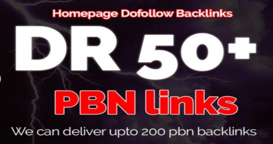 Build 3 Permanent DR 50+ PBN Dofollow Backlink
