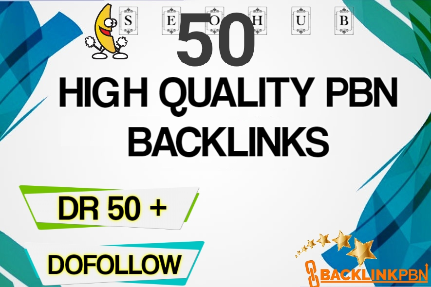 I will do 50 pbn guestpost DR 50 plus to 70 high quality backlink