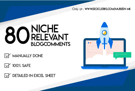 Do 80 Niche Relevant Blog Comments Backlinks