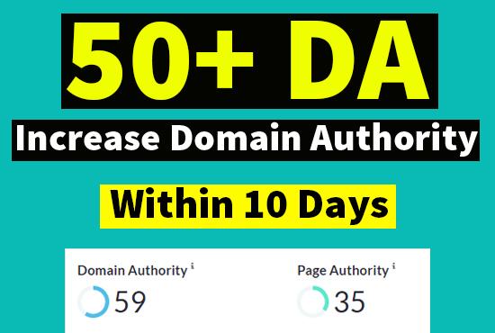 I will increase domain authority da moz 50 plus