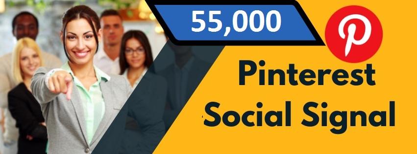 Provide 55,000 Pinterest Social Signal Share manually Service HQ SEO PBN Backlink Boost Bookmark