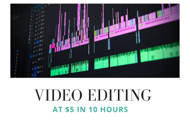 Video editing service in 10 hours