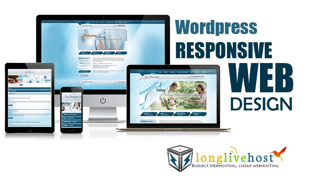 Responsive Wordpress Website,  free domain and free webhost