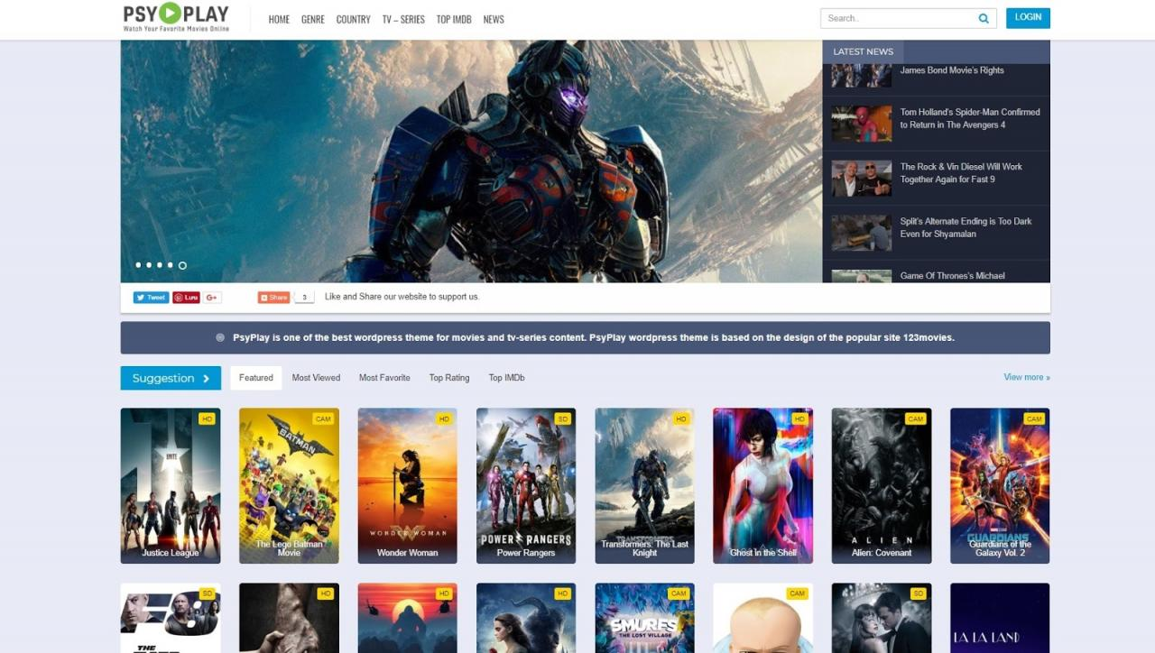 Create Movies And Tv Shows Auto Embed Wordpress Website 2019