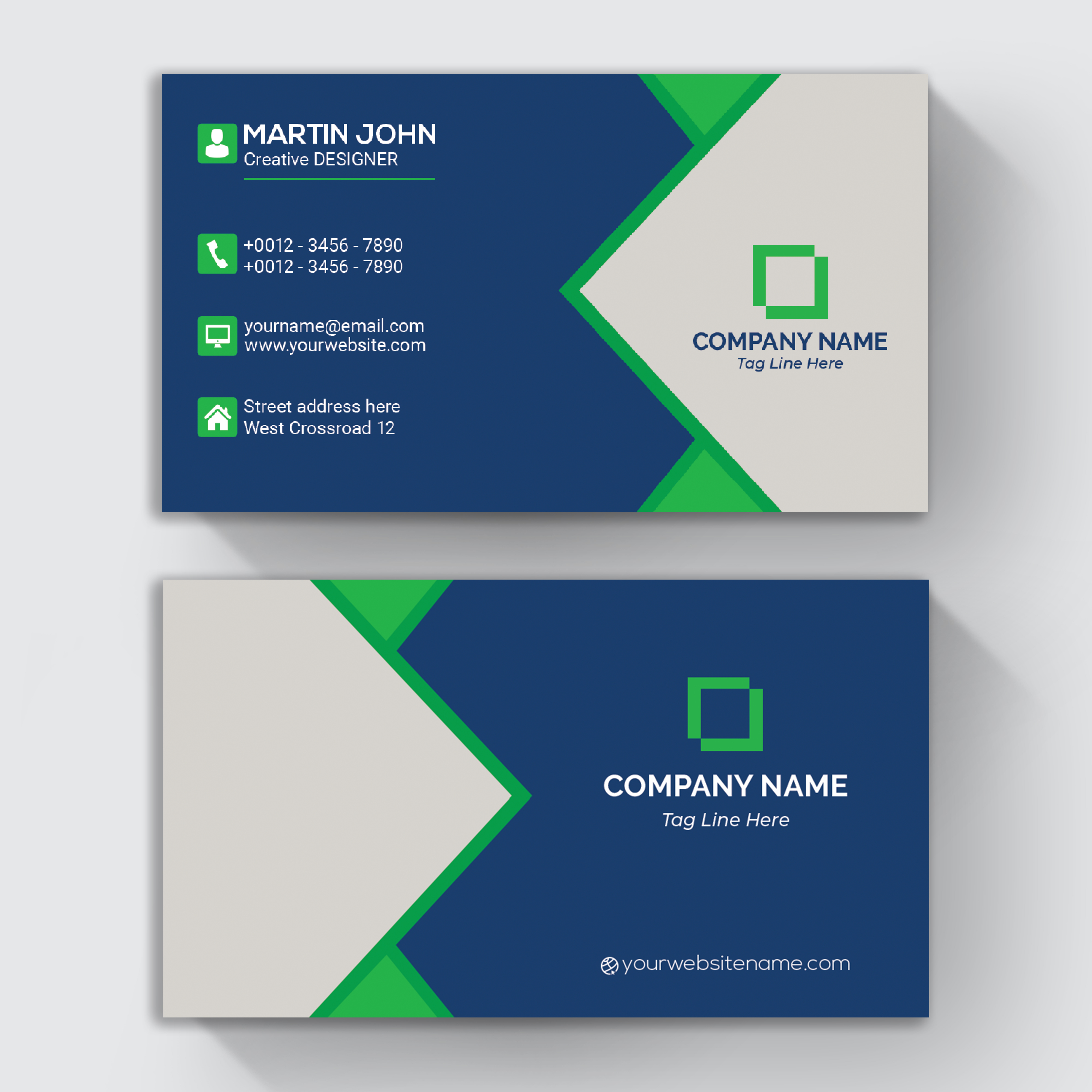 Design eye-catching business card,  visiting card in a Day