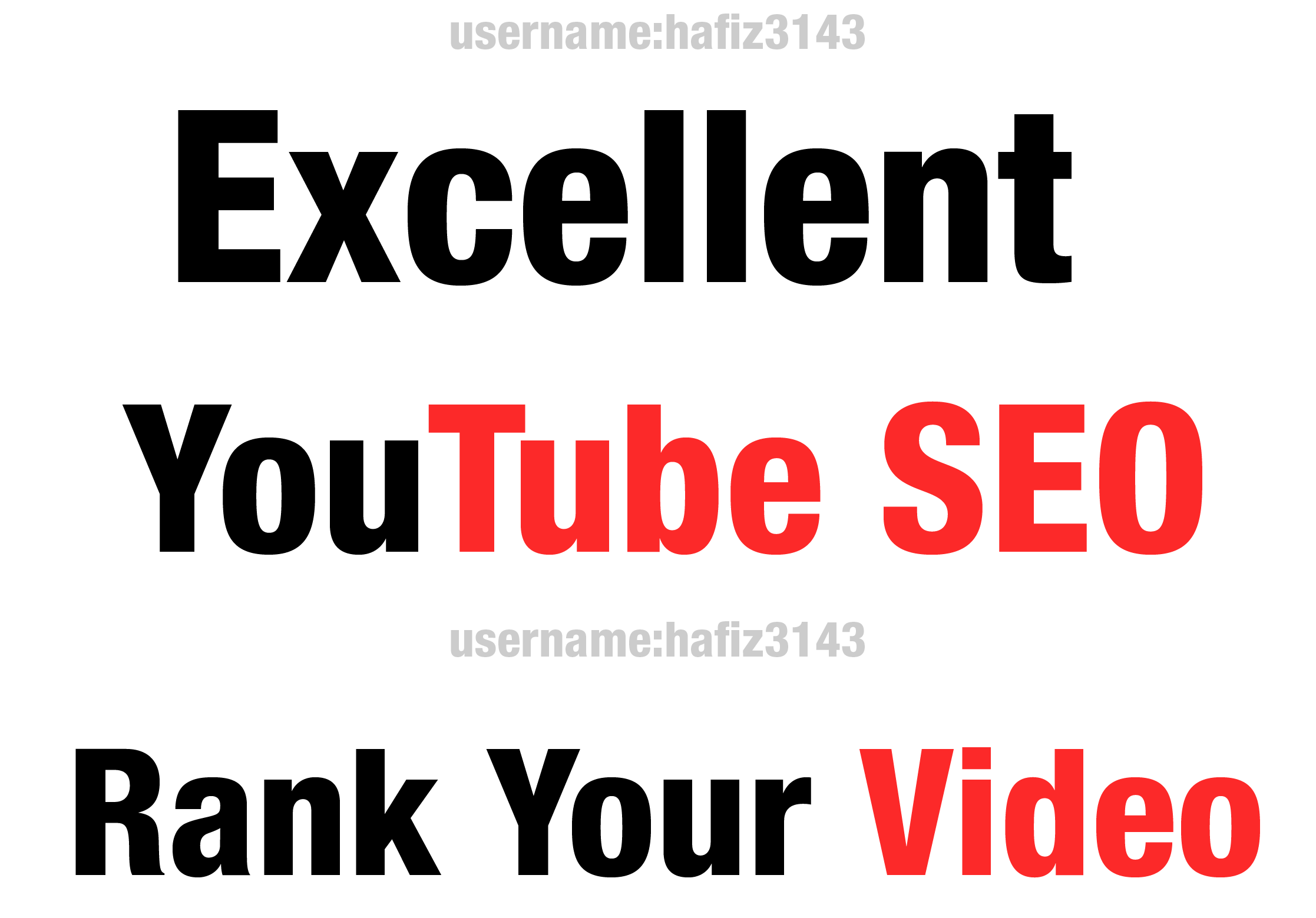 Do Best YouTube On-page SEO and Off page SEO of YouTube Video