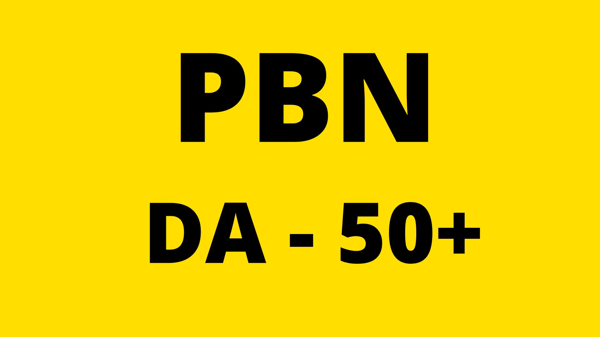 Build DA 50 Plus 50 PBN Backlinks