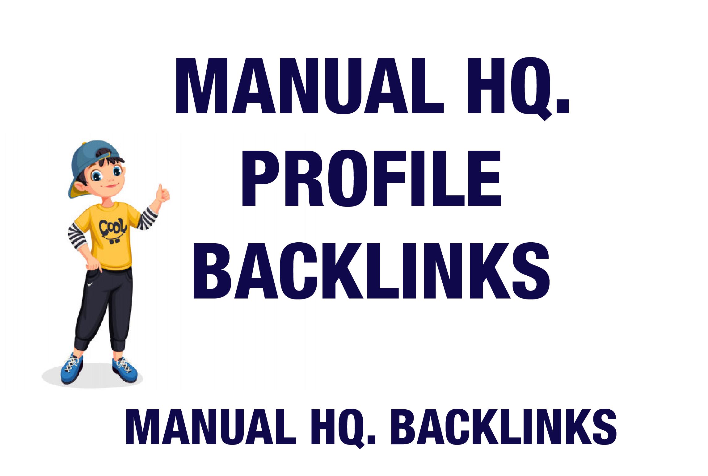I will Provide Handmade 80 High DA Profile Backlinks Perfect For Every Websites