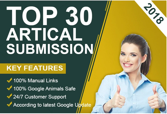 I Will Create 30 Unique Article Submissions Backlinks Serp Ranking Increase.