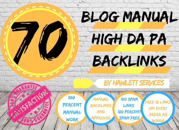 50 Blog Backlinks / High Da Pa Links / Approved And Indexed Accordingly To Google Updates