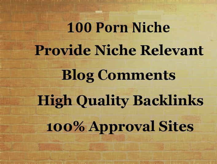 Will Do 100 Porn Niche Relevant Blog commenting With Manually Work