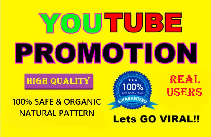 Get Real and Organic Audience for YouTube Promotion