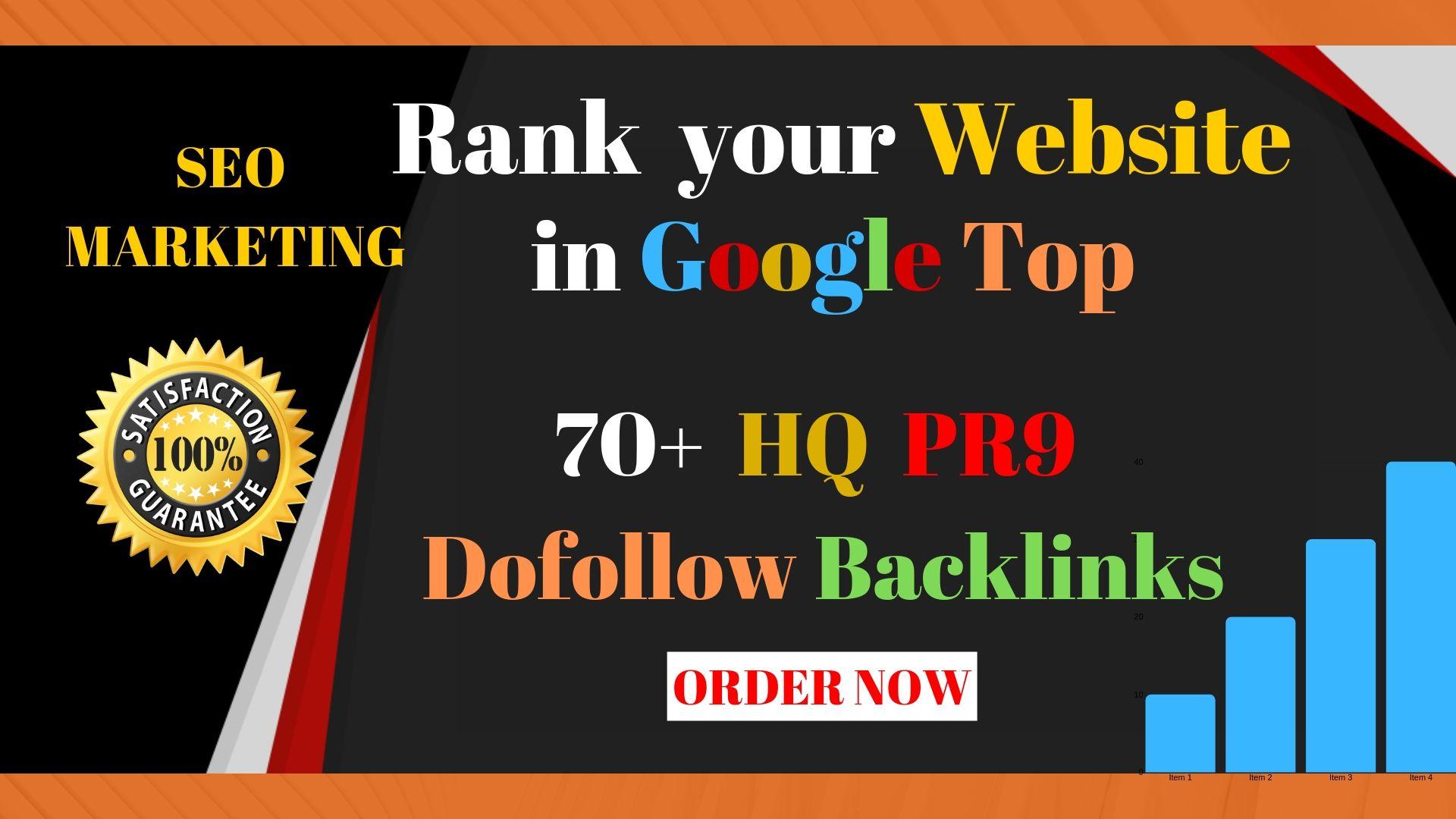 Create Manually 70+ PR9 DA 90 Dofollow Profile Backlinks