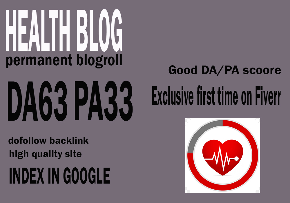 Give your backlink on da63x6 health blogroll dofollow