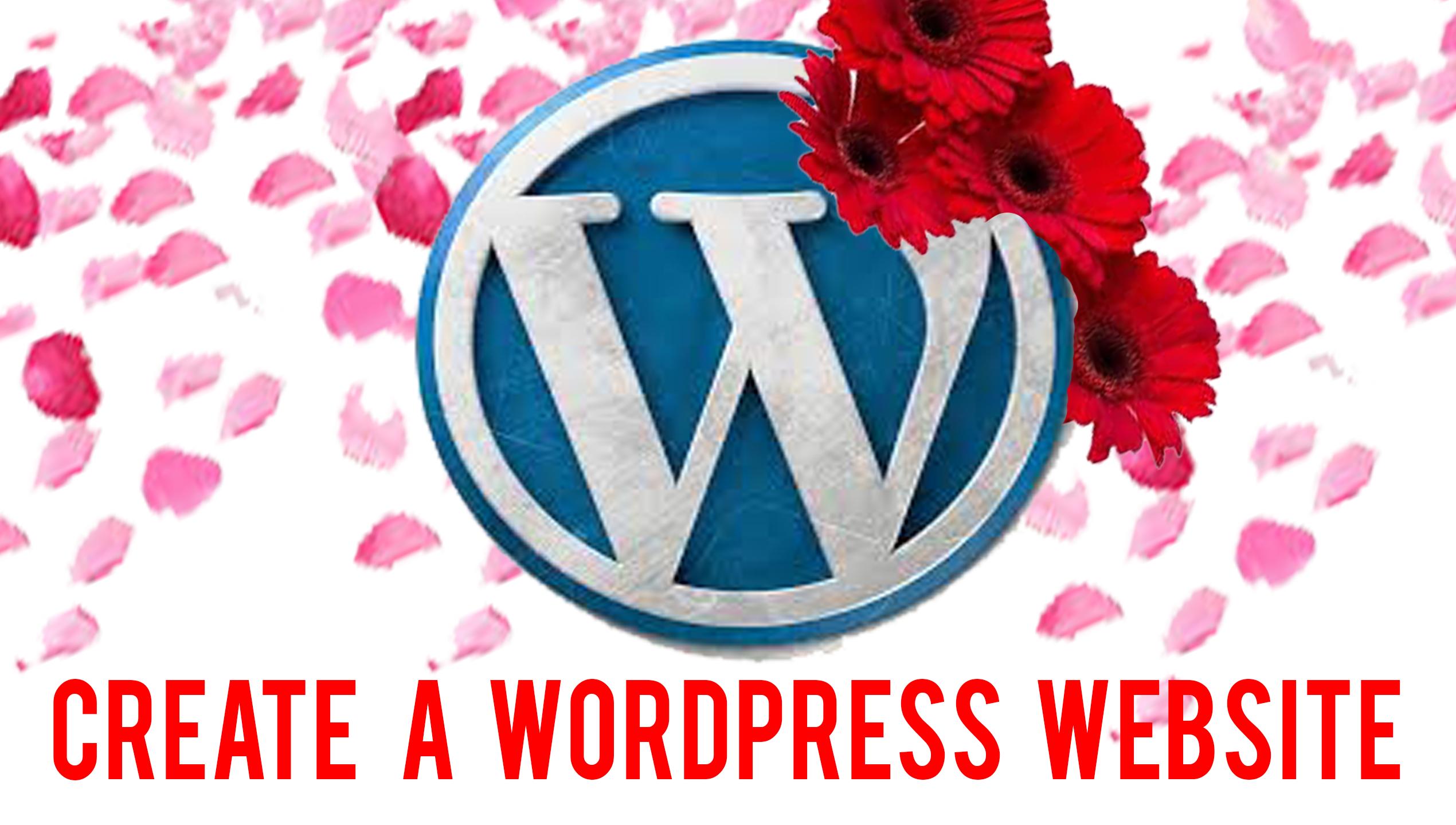 I WILL CREATE A BEAUTIFUL WORDPRESS WEBSITE FOR YOU