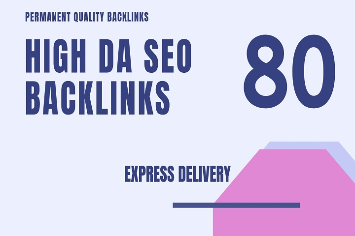 I Will do 80 High pr backlinks, link building