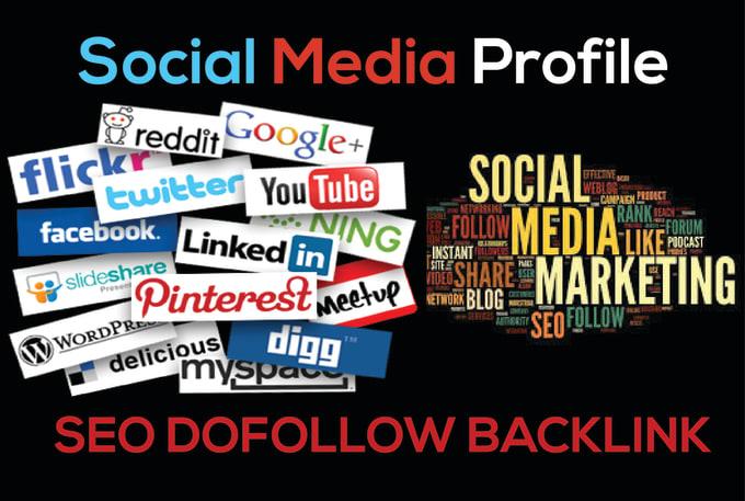 i Will Do 85 Social Media Profiles SEO BackLinks On High DA 100 to 90 Sites.