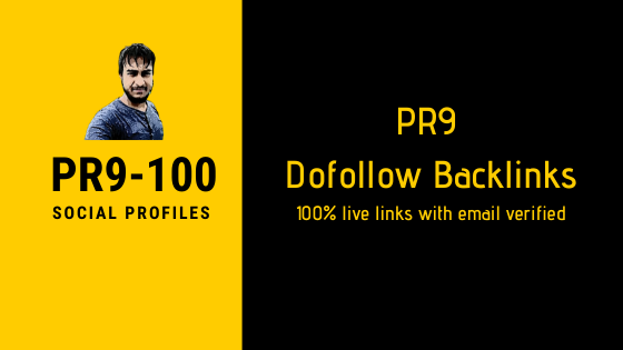 50 PR9 dofollow social profile backlinks boost your ranking on google