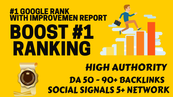 Boost your ranking 1 in Google and get deliver with proof and reports of high DA backlinks