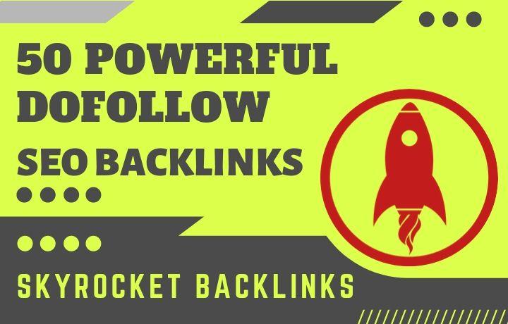 Skyrocket Backlinks service 50 Dofollow SEO Backlinks