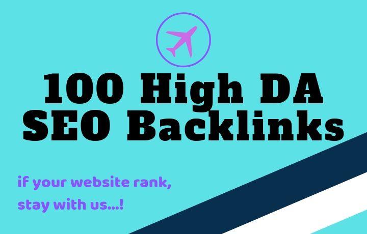 100 High quality SEO Backlinks
