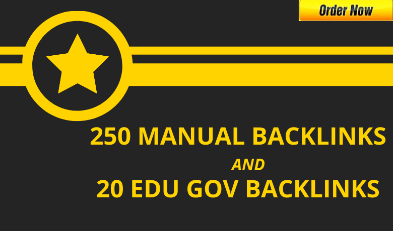 I will do 250 high da backlinks and 20 powerful education profile seo backlinks