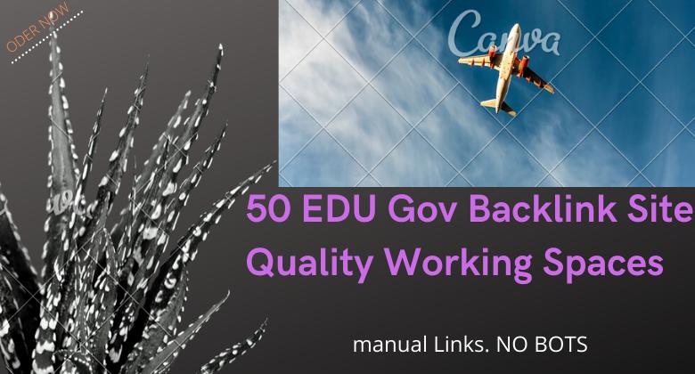50 EDU Gov Backlinks site Quality Working Spaces