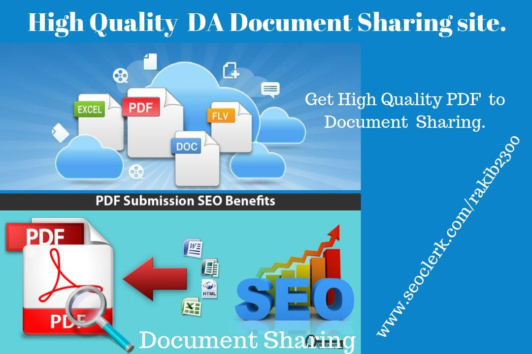 200 High Quality Da & pa PDF Submission to Document Sharing Site