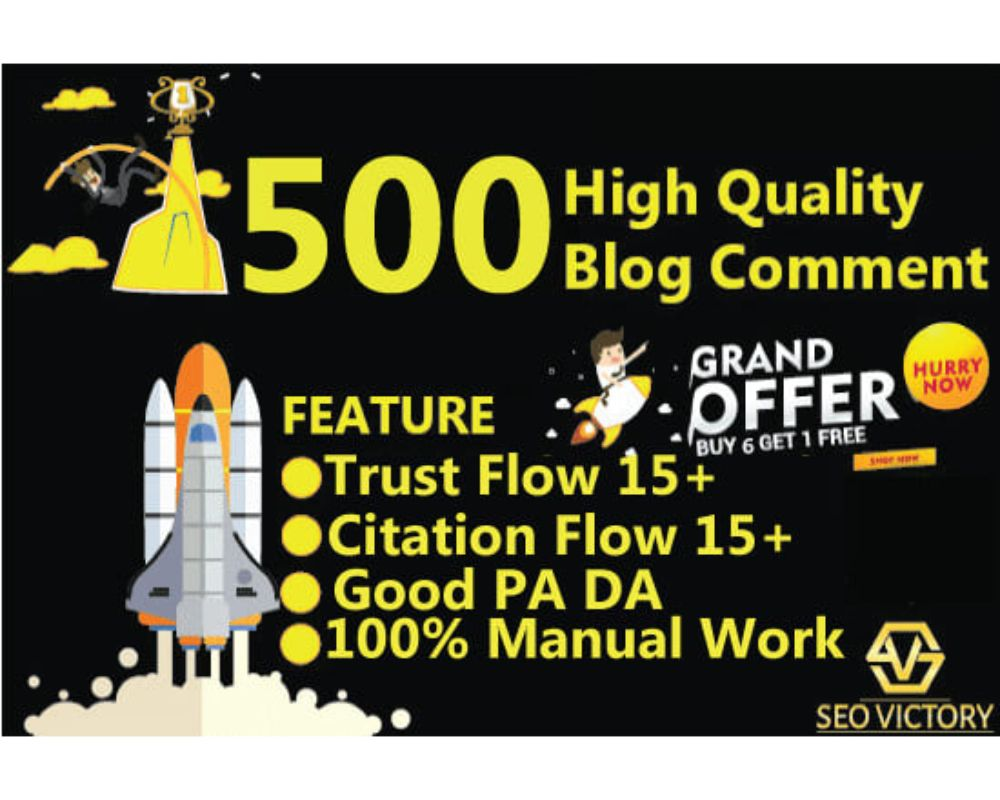 I will make 500 blog comment dofollow High DA PA low obl backlinks