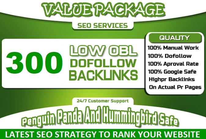 Get 300 Blog comment low obl dofollow high DA PA backlinks higher ranking