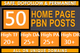 provide 50 PBN homepage All dofollow Quality backlinks