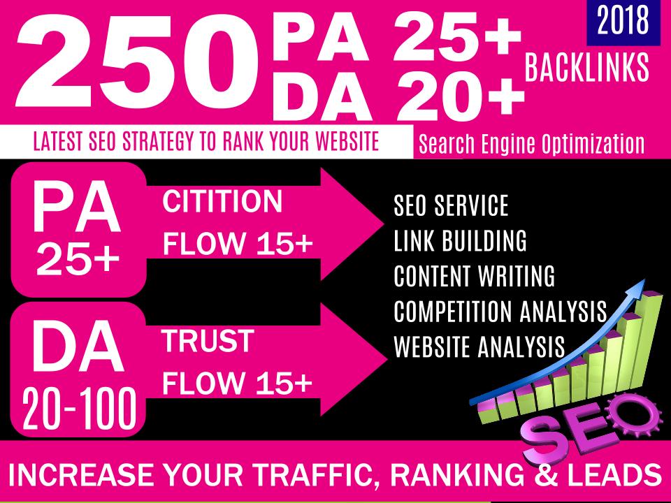 I will do 250 unique domain blog comment DA 30+ Do-Follow backlinks