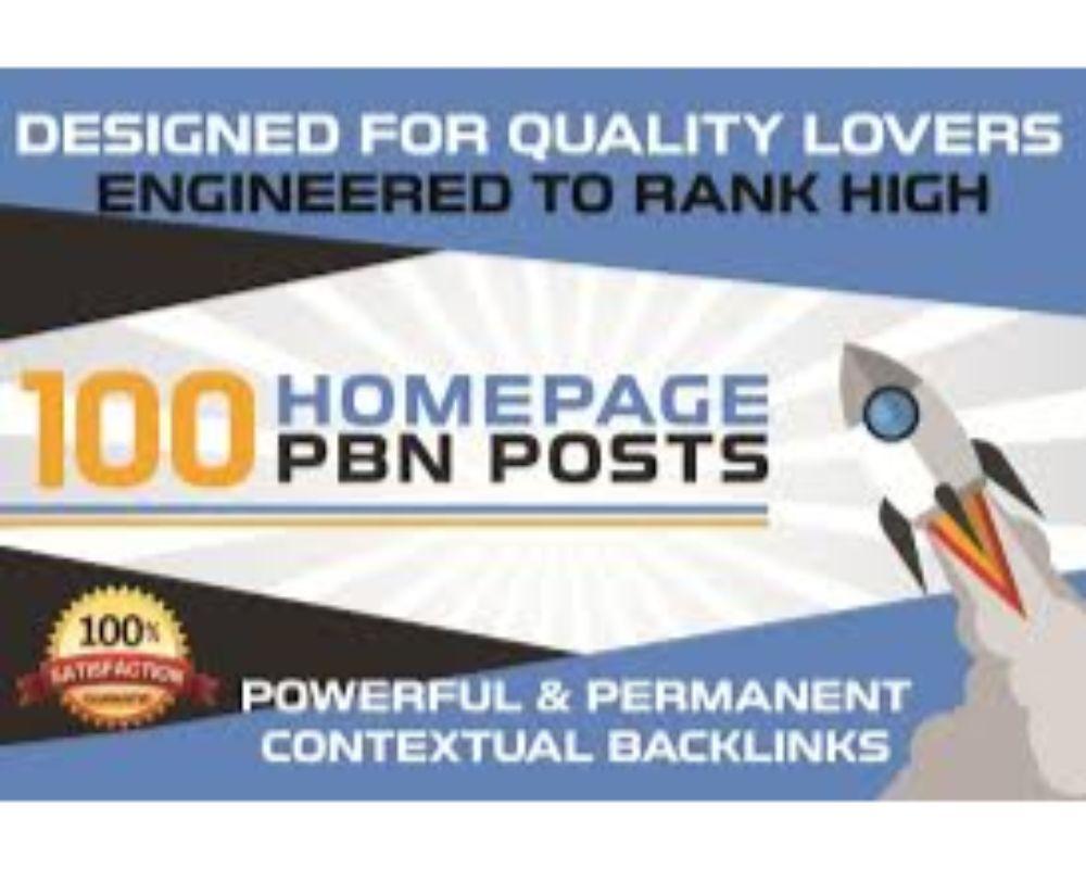 I will provide 100 PBN DA 20 TO 25+ homepage dofollow authority backlinks