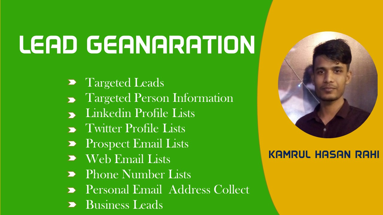 I Can Provide You Top 100 Targeted Business Lead