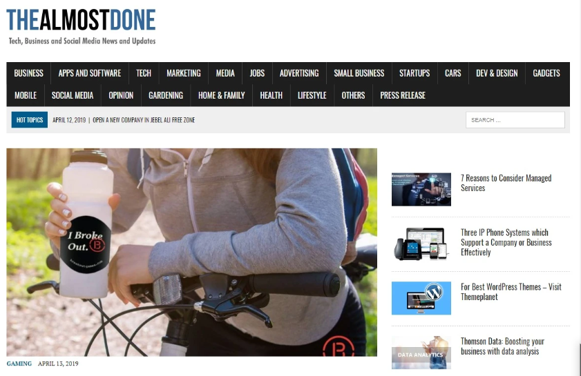 I will publish your Article on thealmostdone. com