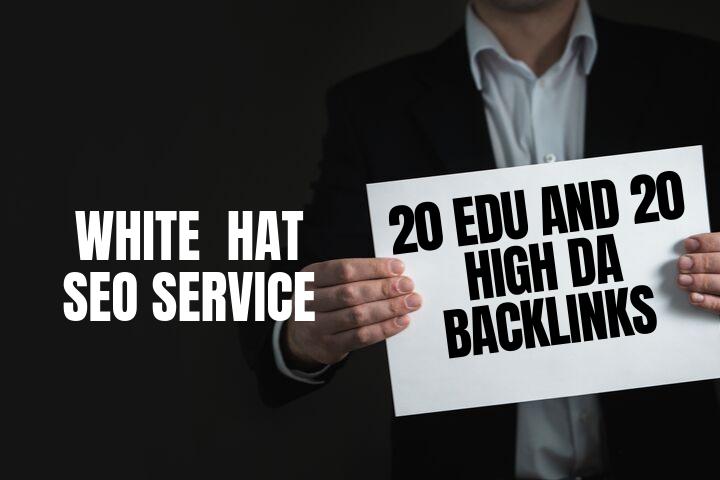 Do 20 Authority Backlinks And 20 EDU GOV Backlinks