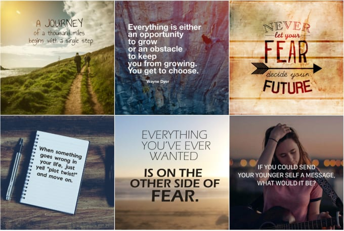 I will provide motivational quotes images with logo