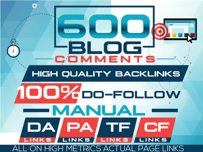 Do 600 Best Quality High Pa Da Blog Comments Backlinks Manually