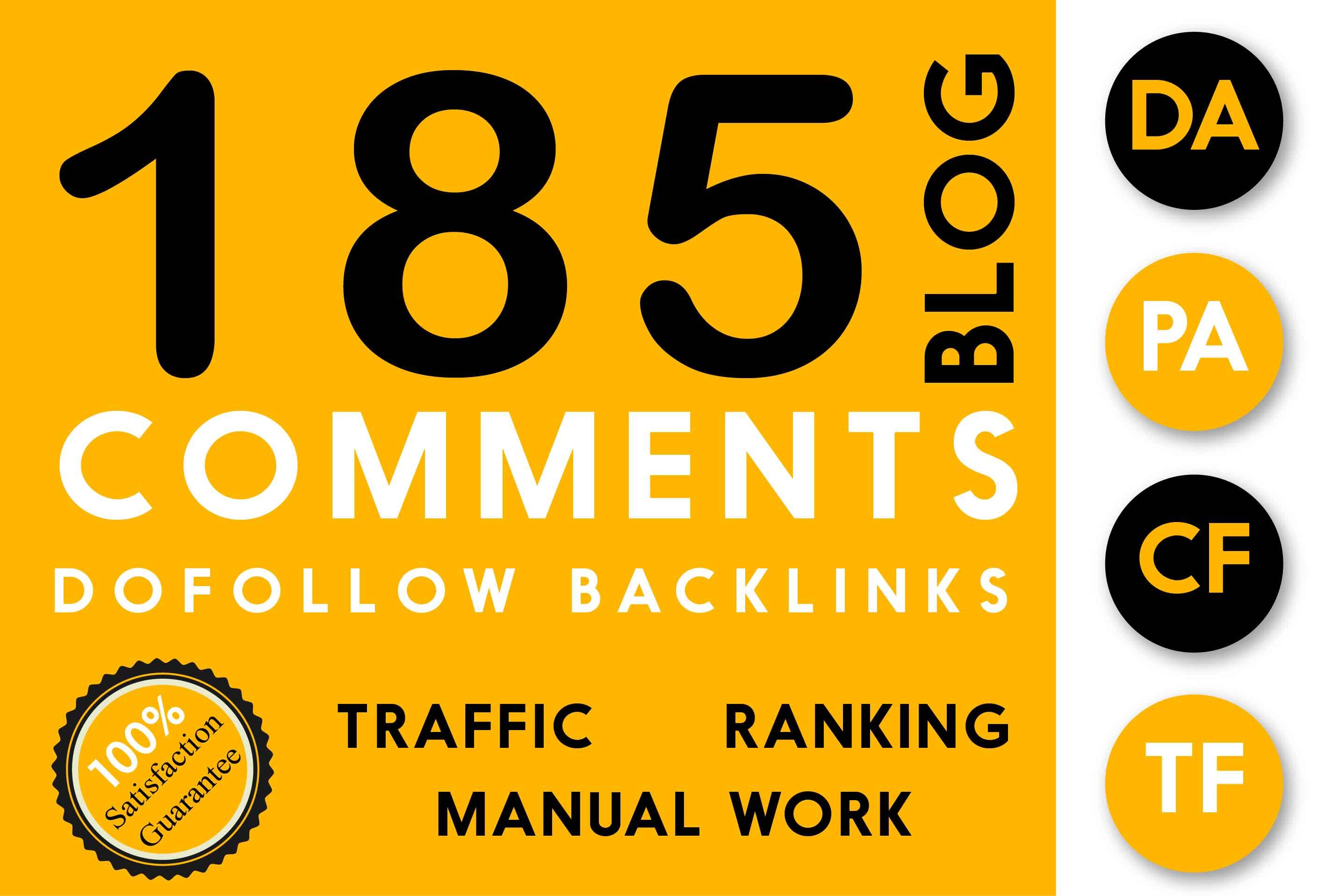 Do 185 High Pa Da Dofollow Blog Comments Dofollow Backlinks Manually