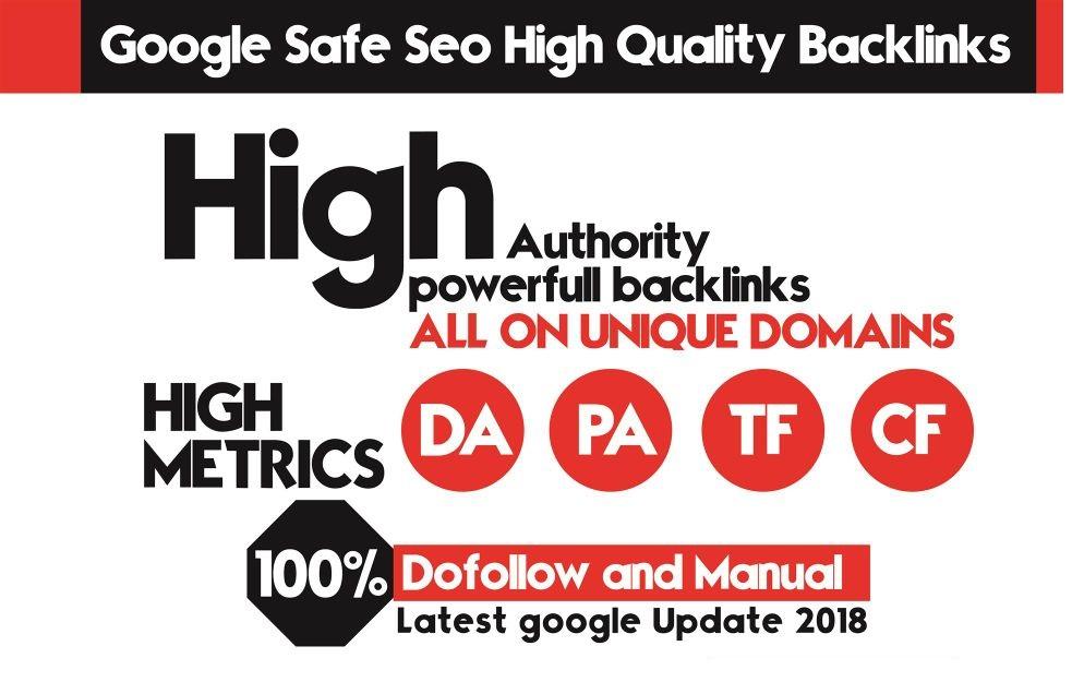 Manual 90 Top Quality SEO Backlinks On Pr9,  Da100,  Tf50 Unique Domains