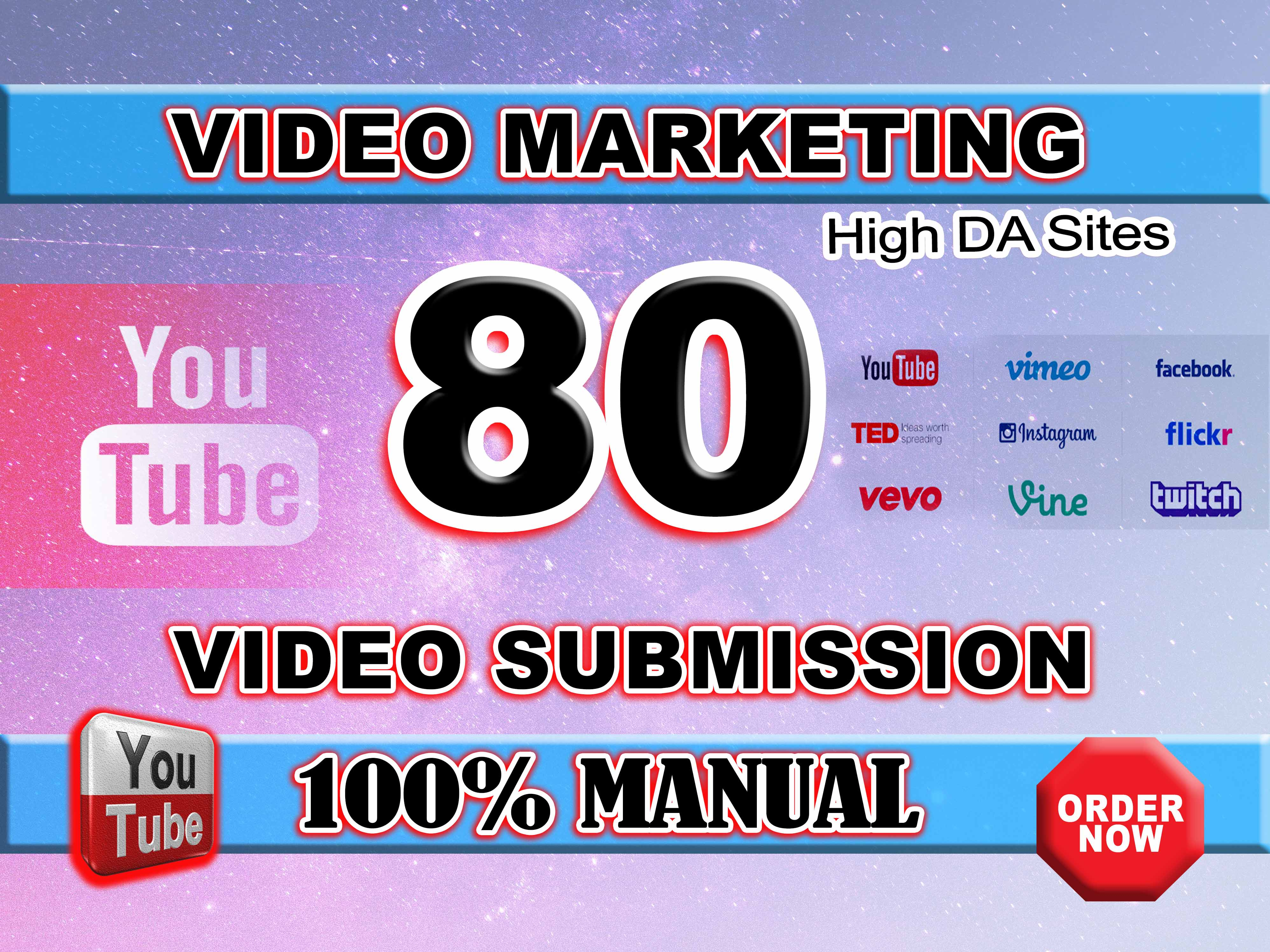 Manually Submit Your Video On Top High DA 80 Video Submission Sites