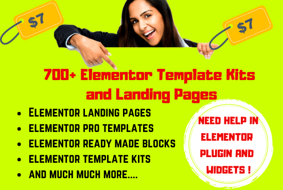 I will give you 700 Elementor Template Kits and Landing Pages