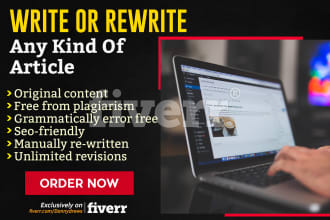 Rewrite An Article,  Blog Post Or Web Page