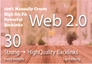 30 High Quality WEB 2.0 USA backlinks For Your Website