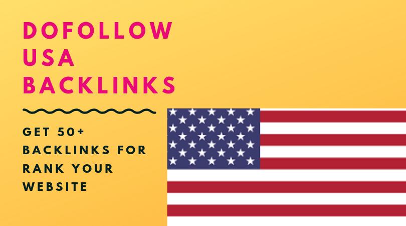 50 dofollow usa backlinks for website