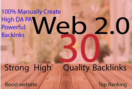30 High Quality WEB 2.0 USA backlinks For Your Website