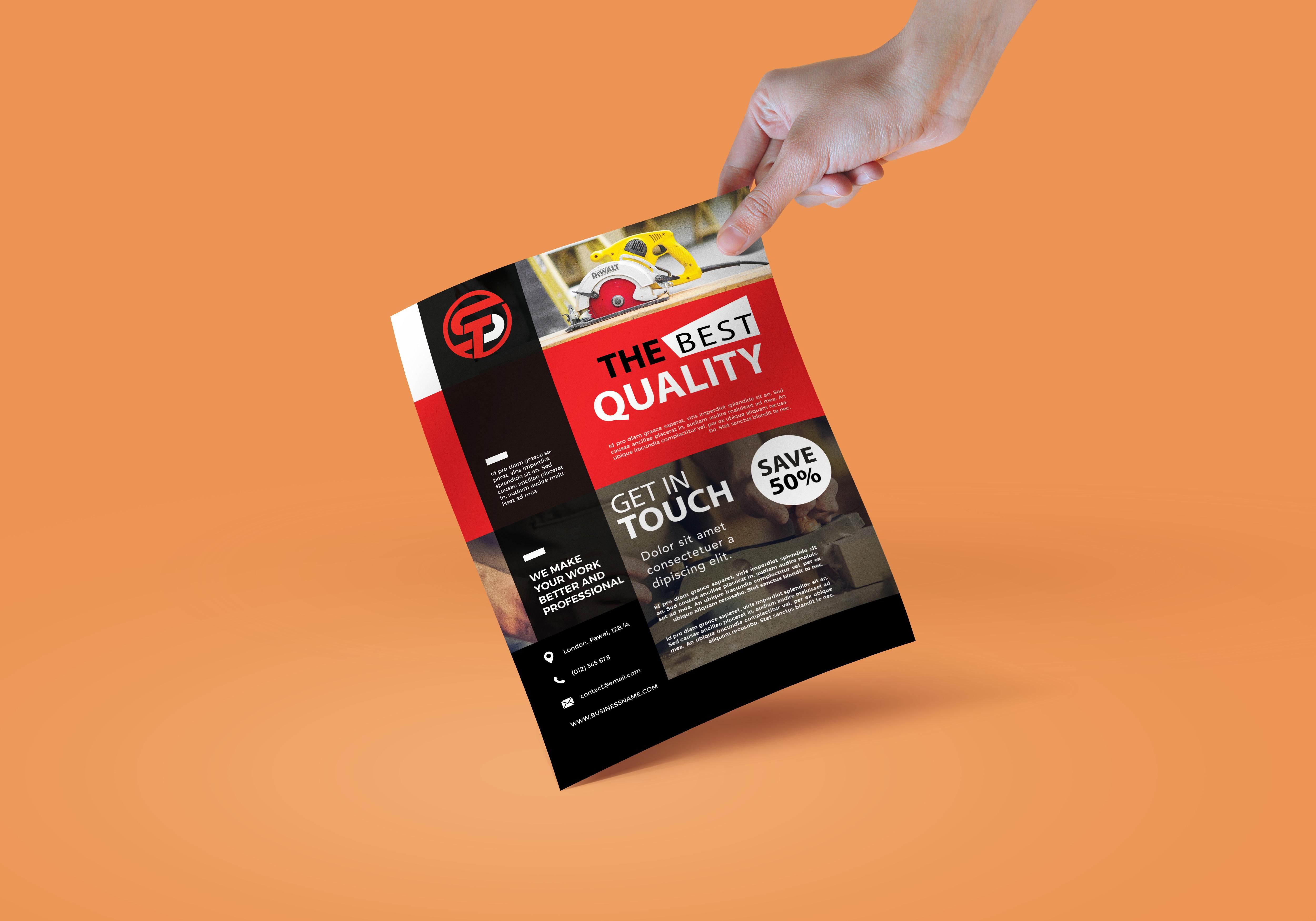 I will design amazing flyer,  brochure or leaflet