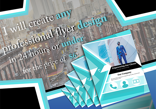 Creating any professional flyer design