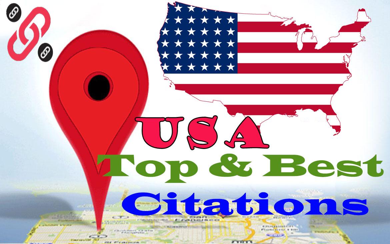 I Will Do 30 Powerful Top Live USA Citations Manually