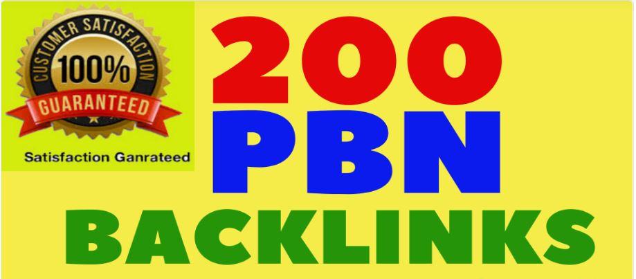 I Will Provide 200 PBN Links Dofollow Backlinks High DA, PA, TC, CF,  Sites